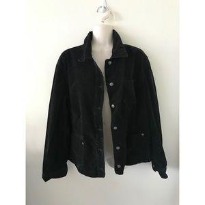 🌿 Awesome Chico's Black Corduroy Jacket